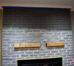 paint ideas for red brick fireplace painting chalk concrete