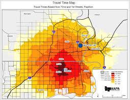 Travel Time Map Economic Development Papillion Ne
