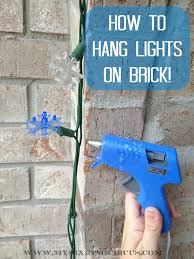 how to hang lights on house hanging lights on brick now super easy