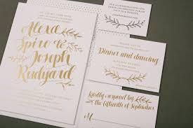 gold foil wedding invitations rustic gold foil wedding invitations figura