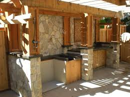bar rang hood flagstone floor and traditional pergola natural