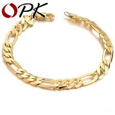 vintage chain bracelet images Opk jewelry aliexpress hot sell classic vintage gold color figaro jpg