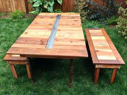 Picnic Table With Benches Plans How To Build A Picnic Table Bench Seat Tble Round Plans With