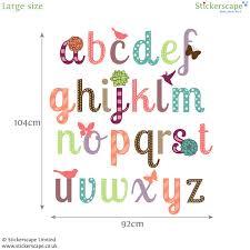 girly alphabet wall stickers stickerscape uk girly alphabet wall stickers