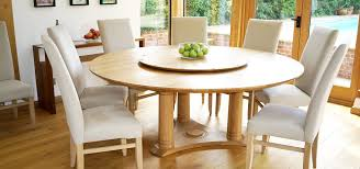 lazy susan dining table lazy susan round dining table in oak with walnut thumb grips
