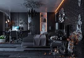 gothic rooms all black modern gothic bedroom design digsdigs