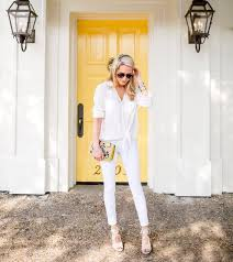 all white casual shoes schlegel blouse jewels bag