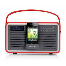 view quest retro style dab dab fm radio with ipod iphone dock