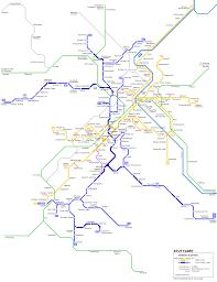 Network Map Urbanrail Net U003e Stuttgart Stadtbahn Network Map