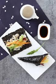 cuisiner vegan temaki rouleaux de sushi veggie cuisiner ingrédients japonais