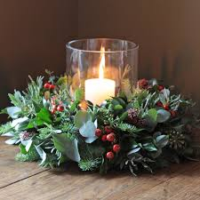 wreath with candle for christmas healthy inside and fresh