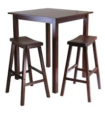 Kitchen High Table And Chairs - kitchen awesome solid wood furniture high dining table dark wood