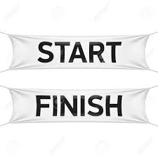 Finish Line Flag Starting Flag Clipart Collection