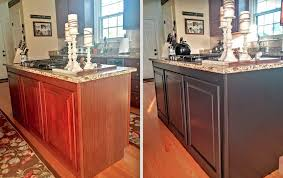 Painted Kitchen Cabinets Before After Painted Kitchen Cabinets Makeover Before U0026 After At Home With