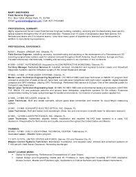 Electronic Technician Resume Sample Download Medical Field Engineer Sample Resume