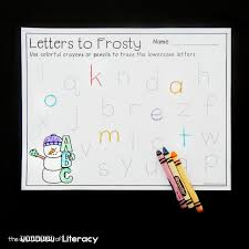 snowman alphabet tracing printables the letters of literacy