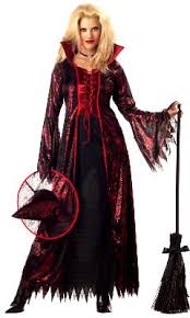 Red Witch Halloween Costume Vampire Costumes Dracula Viking Costume Grim Reaper Witch Gothic