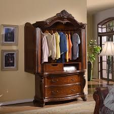 Cherry Armoire Wardrobe Luxor Bedroom Set In Rich Cherry By Meridian Furniture Get Furniture