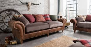 Fabric Leather Sofa 100 Real Leather And Fabric Grand Sofa 2