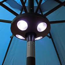 Patio Umbrella Led Lights by Build In Solar Led Aluminium Patio Umbrella Light Deck Gazebo Yard