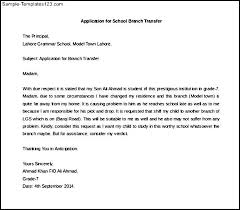 School Acceptance Letter Exle Sle Of Request Letter For Transfer To Other School Application