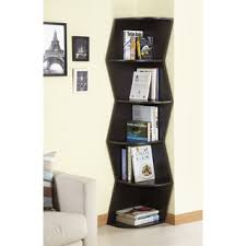 Walnut Corner Bookcase Overstock Furniture Of America Waverly Modern Walnut 6 Tier