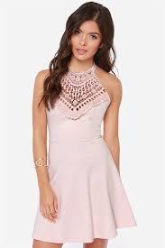 light pink halter dress lovely light pink dress halter dress lace dress 40 00