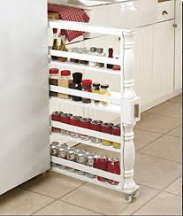 Antique Spice Rack Amazon Com White Spice Rack Organizer The Container Store Side Of