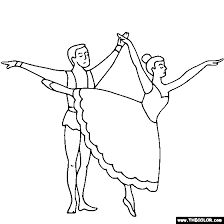coloring pages dancing coloring ballet couple pages dancing