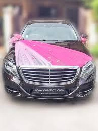 car ribbon bc17 002 bridal car decoration with big ribbon at the back