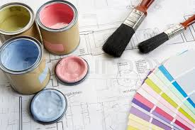 home decorating tools decorating tools and materials stock photo colourbox