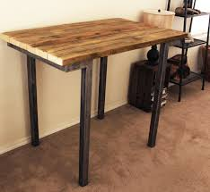 Reclaimed Wood Bar Table Reclaimed Wood Bar And Pub Table Cafe Table