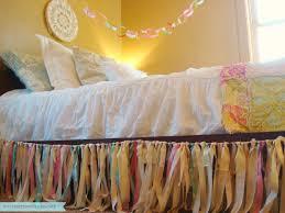 Shabby Chic Bed Skirts by Custom Fabric Garland Ribbon Dust Ruffle Bed Skirt Shabby Chic