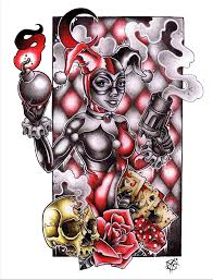 my harley quinn design ready to be turned into prints for sell