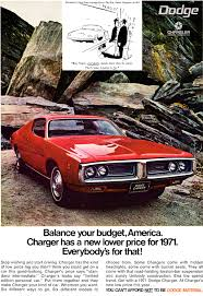 car advertisement 1971 dodge charger ad classic cars today online