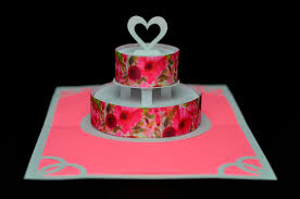 flower wedding cake pop up card creative pop up cards