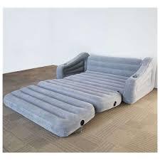 intex queen inflatable pull out sofa air mattress 68566vm