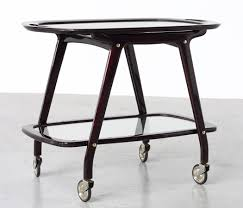 cesare lacca italian bar cart with serving tray 1950