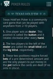 Big Blind Small Blind Rules Poker Guide Android Apps On Google Play