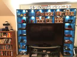 family game room tv media center 6 generations of gaming consoles