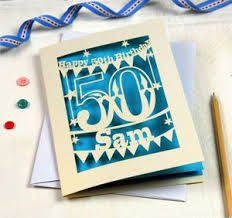 50th Birthday Cards For Personalised Papercut 50th Birthday Card By Pogofandango