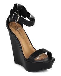 shoes breckelles cb04 women leatherette single band ankle strap