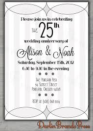 25th wedding anniversary invitations 152 best 25th wedding anniversary silver images on