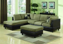 Green Leather Sectional Sofa Gree Wall Interior Black Green Leather With Floor