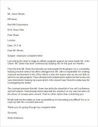 Formal Complaint Letter Against An Employee employee plaint letter ideas of exle of a complaint letter about