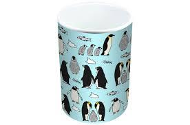 jayne penguins limited edition designer mug and coaster gift set
