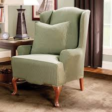 D Decor Home Fabrics Decor Tips Stunning Wing Chair Slipcover For Furnishings Ideas