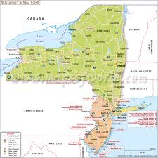 map of nj york and new jersey map