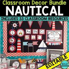 Nautical Theme by Nautical Theme Classroom Decor Editable By Clutter Free Classroom