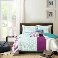 Purple And Green Bedding Sets Intelligent Design Vivi Coverlet Set Purple And Green Bedding